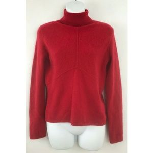 Alfani Red Turtleneck Long Sleeve 2 Ply Sweater L